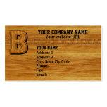 Monograma de madera B Tarjeta Personal