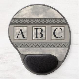 Monograma de mármol de Personalizable Alfombrilla De Ratón Con Gel