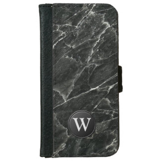 Monograma de mármol negro carcasa de iPhone 6