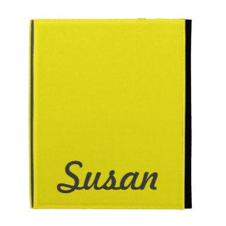 Monograma de moda de neón amarillo brillante