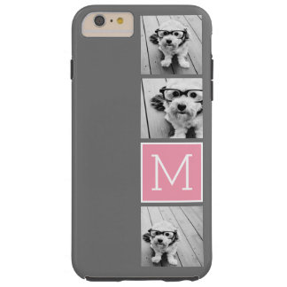 Monograma de moda del personalizado del collage de funda de iPhone 6 plus tough