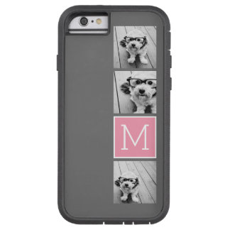 Monograma de moda del personalizado del collage de funda de iPhone 6 tough xtreme
