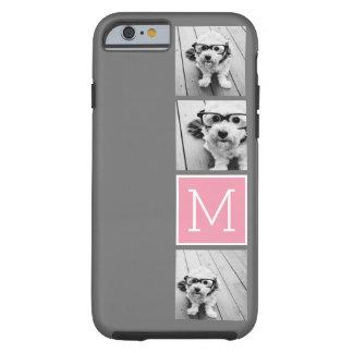 Monograma de moda del personalizado del collage de funda de iPhone 6 tough