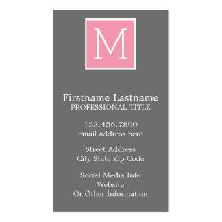 Monograma de moda del personalizado del collage de tarjeta de visita