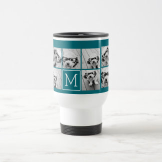 Monograma de moda del personalizado del collage de taza de viaje
