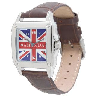 Monograma de moda Union Jack Reloj De Mano