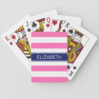 Monograma de muy buen gusto caliente del nombre de cartas de póquer