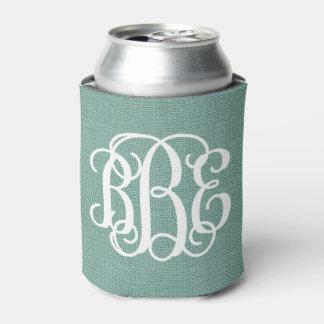 Monograma de muy buen gusto de la escritura de la enfriador de latas