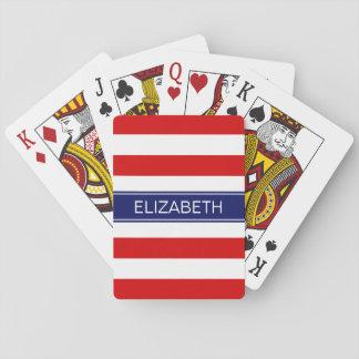 Monograma de muy buen gusto del nombre de los baraja de cartas
