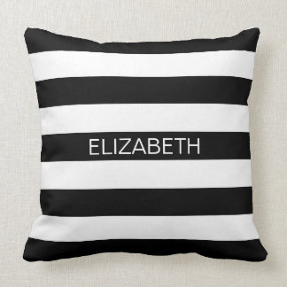 Monograma de muy buen gusto horizontal blanco almohada