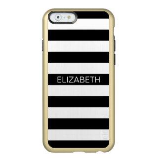 Monograma de muy buen gusto horizontal blanco funda para iPhone 6 plus incipio feather shine