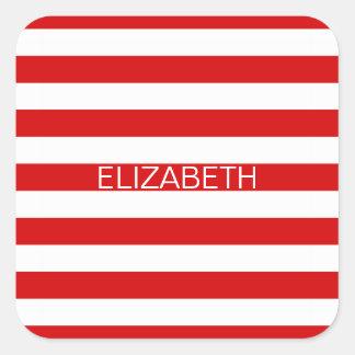 Monograma de muy buen gusto horizontal blanco rojo