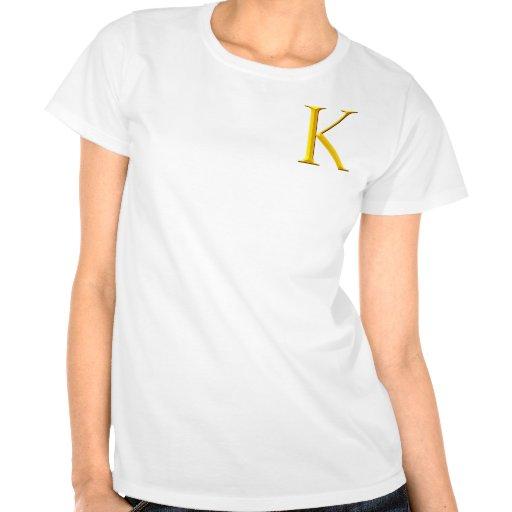 Monograma de oro de K Camisetas