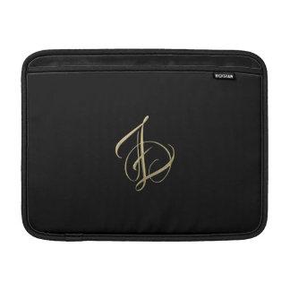 Monograma de oro de la inicial Z Fundas MacBook