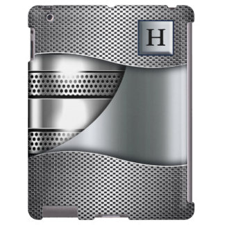 Monograma de plata de la malla II suave Funda Para iPad