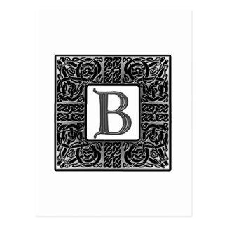 "Monograma de plata del Celtic ""B"" Tarjeta Postal"