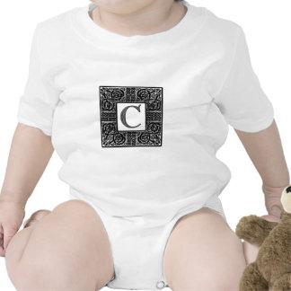 """Monograma de plata del Celtic """"C"""" Camisetas"""