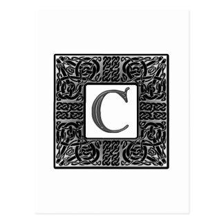 "Monograma de plata del Celtic ""C"" Tarjeta Postal"