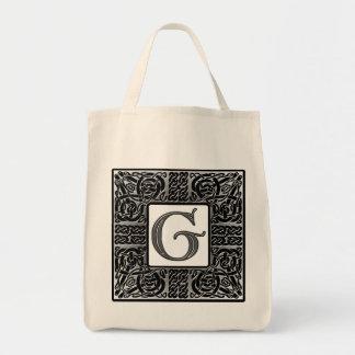 """Monograma de plata del Celtic """"G"""" Bolsa Tela Para La Compra"""