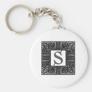 """Monograma de plata del Celtic """"S"""" Llavero Personalizado"""