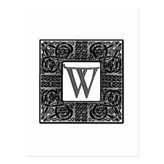 "Monograma de plata del Celtic ""W"" Tarjetas Postales"