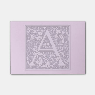 monograma de plata del flourish - A Notas Post-it