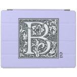 monograma de plata del flourish - B Cover De iPad