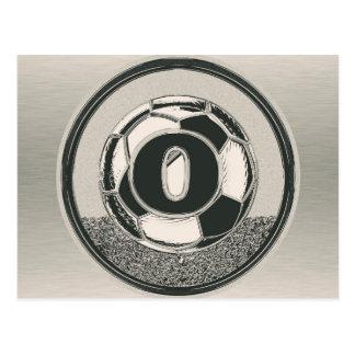 Monograma de plata del fútbol de la letra O Tarjetas Postales