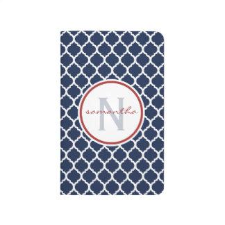 Monograma de Quatrefoil de la marina de guerra Cuadernos Grapados