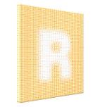 Monograma de R Impresión En Lona Estirada