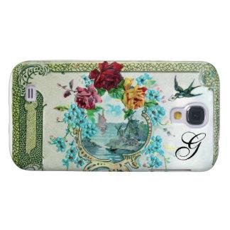 MONOGRAMA de ROMANTICA 3, blanco Funda Para Galaxy S4