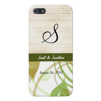 Monograma de S con un caso floral abstracto del iPhone 5 Funda