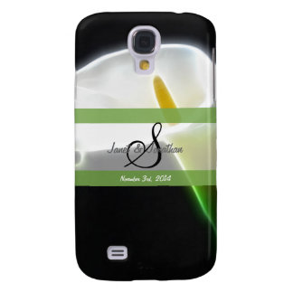 Monograma de S con un caso vivo de HTC de la cala  Funda Para Galaxy S4
