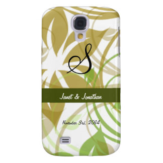 Monograma de S con un caso vivo floral abstracto d Funda Para Galaxy S4
