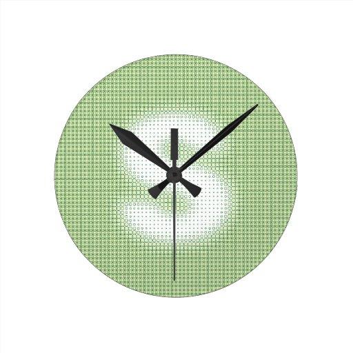 Monograma de S Reloj Redondo Mediano