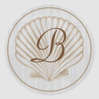 Monograma de Shell B Etiquetas