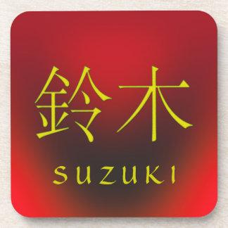 Monograma de Suzuki Posavasos De Bebida