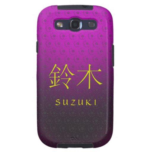 Monograma de Suzuki Samsung Galaxy S3 Protector