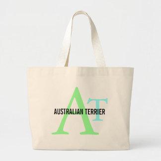 Monograma de Terrier australiano Bolsas De Mano