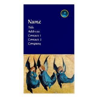 MONOGRAMA de TRES ÁNGELES, zafiro azul