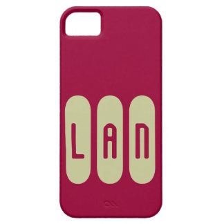 Monograma de tres letras iniciales de plantilla de iPhone 5 carcasas