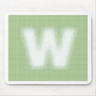 Monograma de W Mousepads