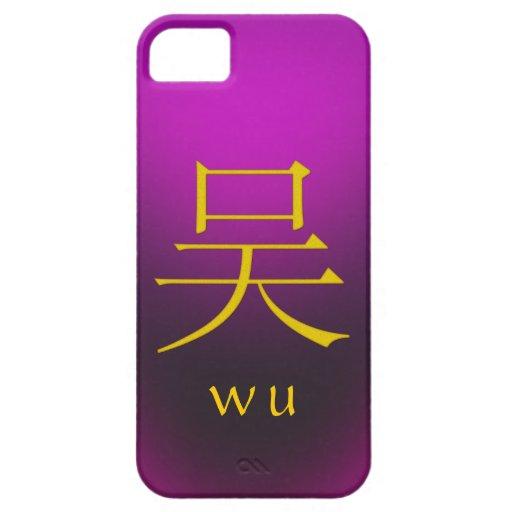 Monograma de Wu Funda Para iPhone SE/5/5s