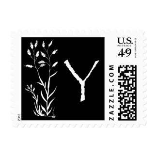 Monograma de Y (planta negra de la lavanda) Envio