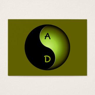 monograma de yang del yin - cal tarjetas de visita grandes