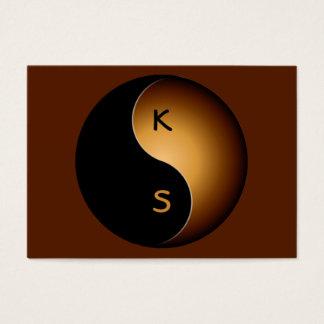monograma de yang del yin - caramelo tarjetas de visita grandes