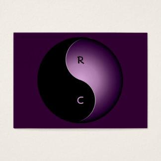monograma de yang del yin - púrpura tarjetas de visita grandes