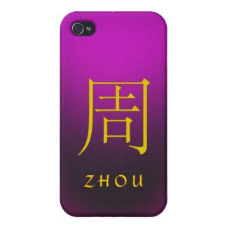 Monograma de Zhou iPhone 4/4S Carcasas