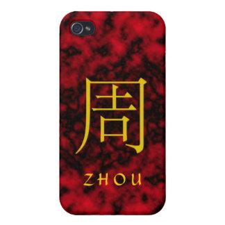 Monograma de Zhou iPhone 4/4S Fundas