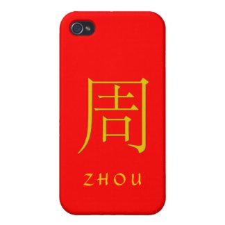 Monograma de Zhou iPhone 4 Carcasas